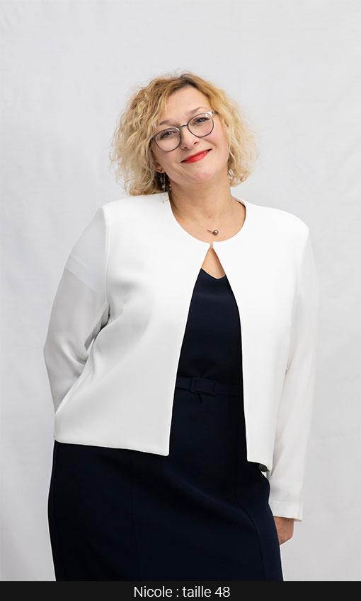 bolero veste femme courte blanc grande taille