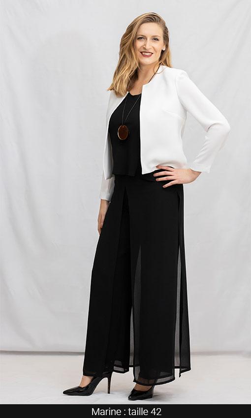 tenue femme chic paris pantalon et veste