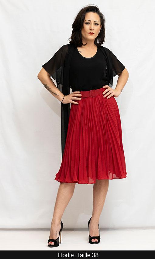 jupe mi longue plissee chic et habillée