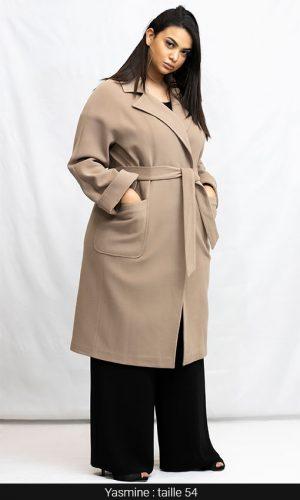 manteau chaud femme ronde beige à paris