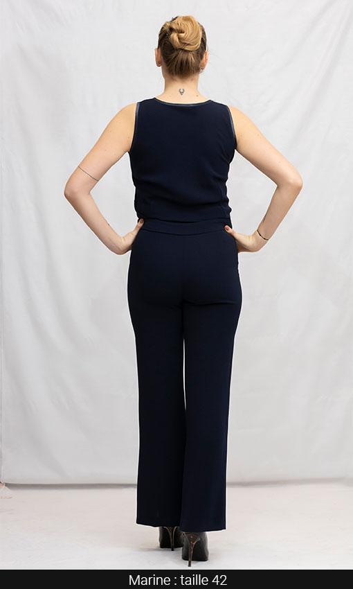 pantalon droit femme ronde