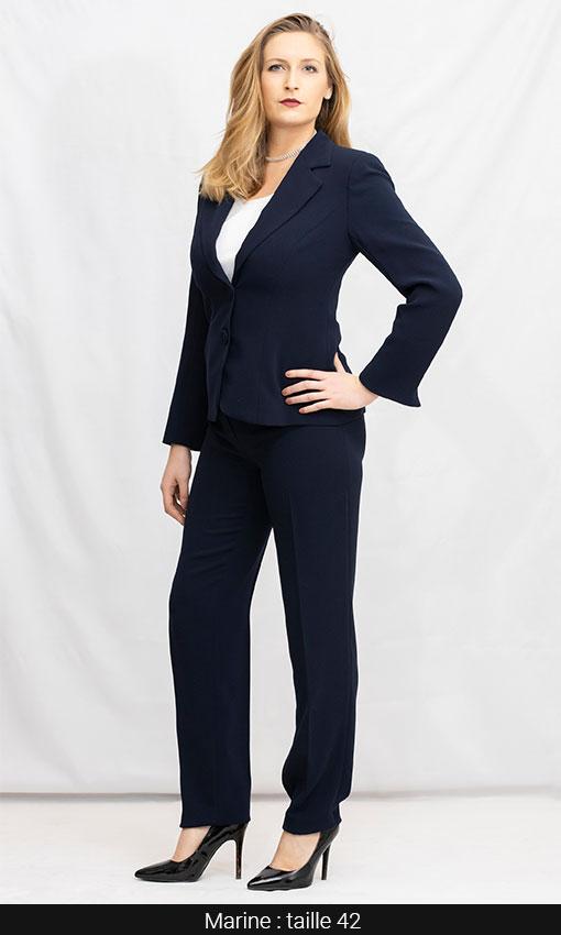Ensemble tailleur pantalon et veste qualité femme