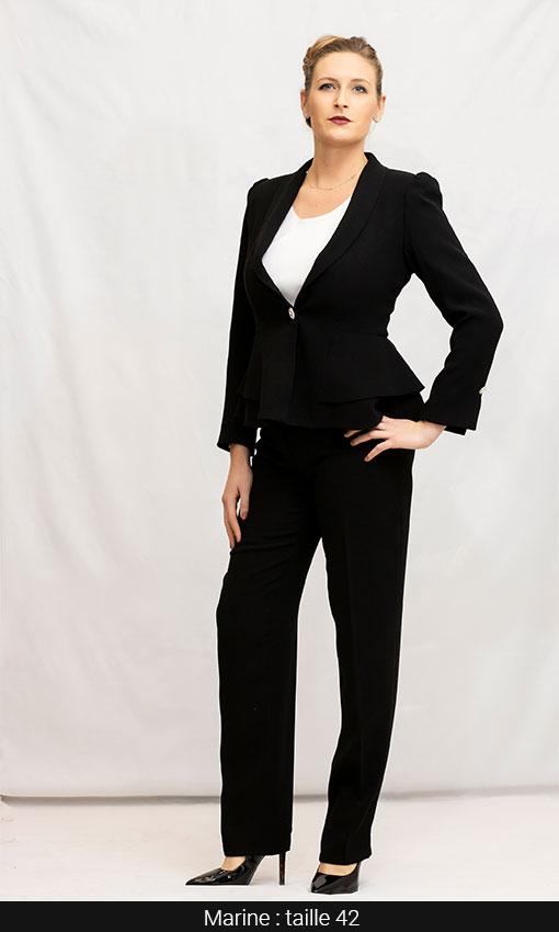 Tailleur pantalon veste femme qualité chic