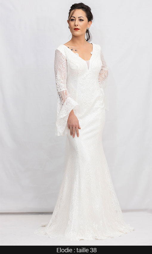 robe mariage ceremonie creme paris