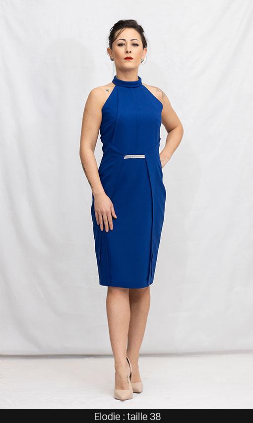 robe classe et habillée bleu