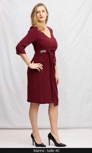 robe droite classe couleur bordeaux paris