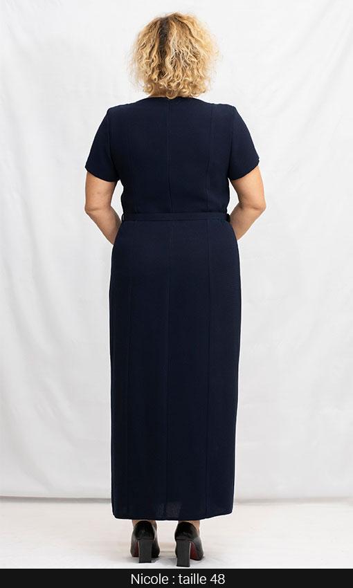 robe longue droite femme grande taille paris