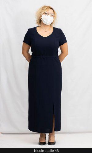 robe longue chic femme ronde paris