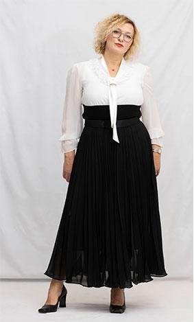 robe longue femme ronde noir
