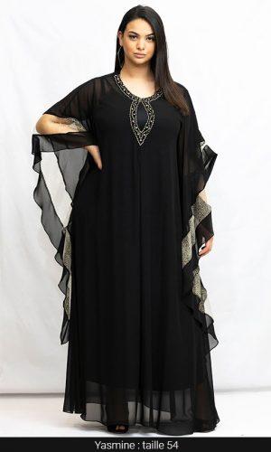 robe longue soirée orientale qualité noir