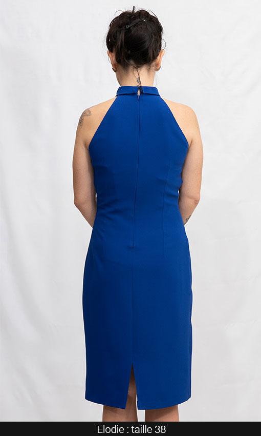 robe simone bleu roi paris