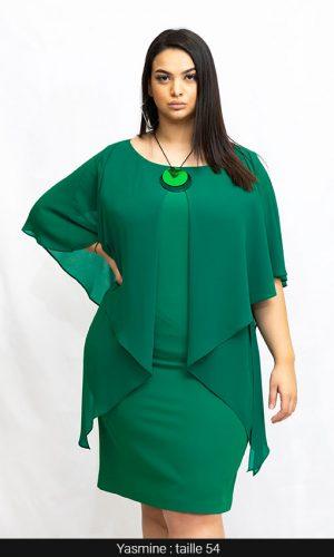 robe courte soirée femme ronde vert