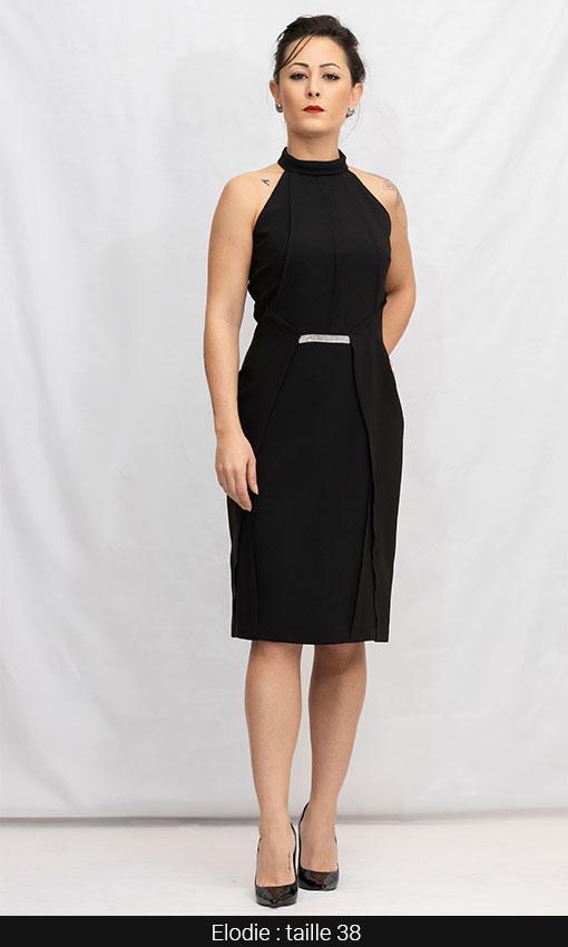 robe soiree simone noir