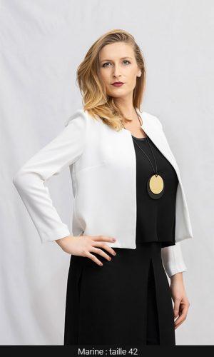 veste courte femme palma blanc