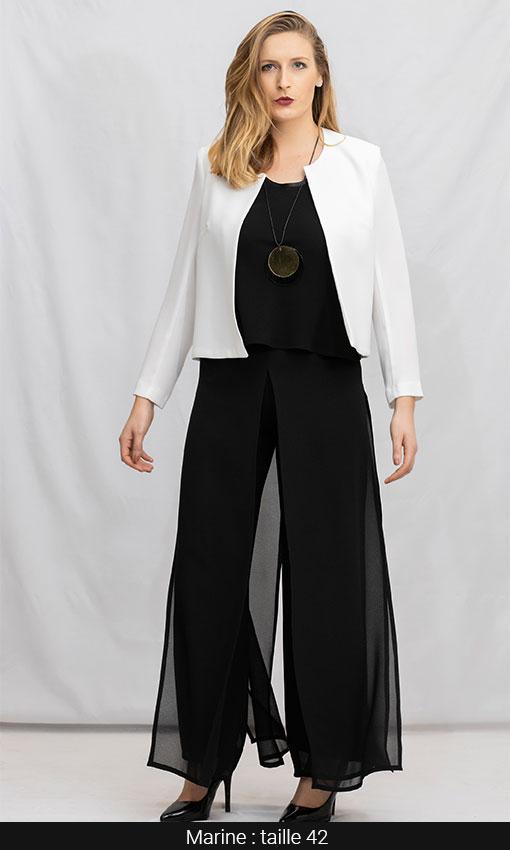 veste courte pour tailleur femme