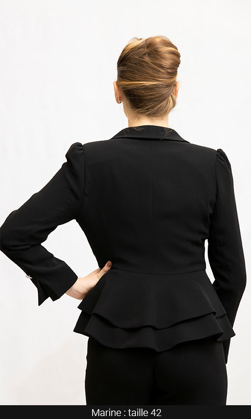 veste femme double basque noir