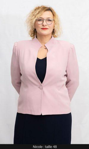 veste femme chic rose pale femme forte