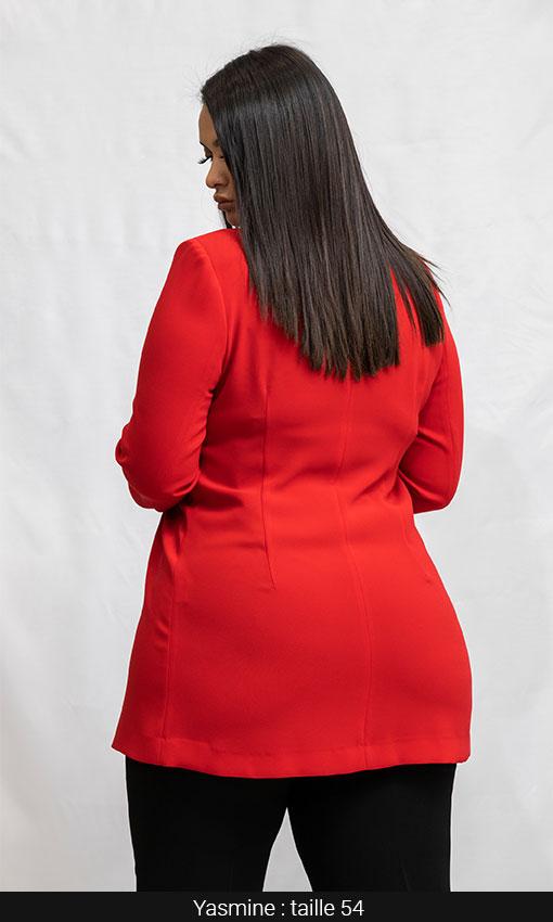vest longue femme grande taille rouge