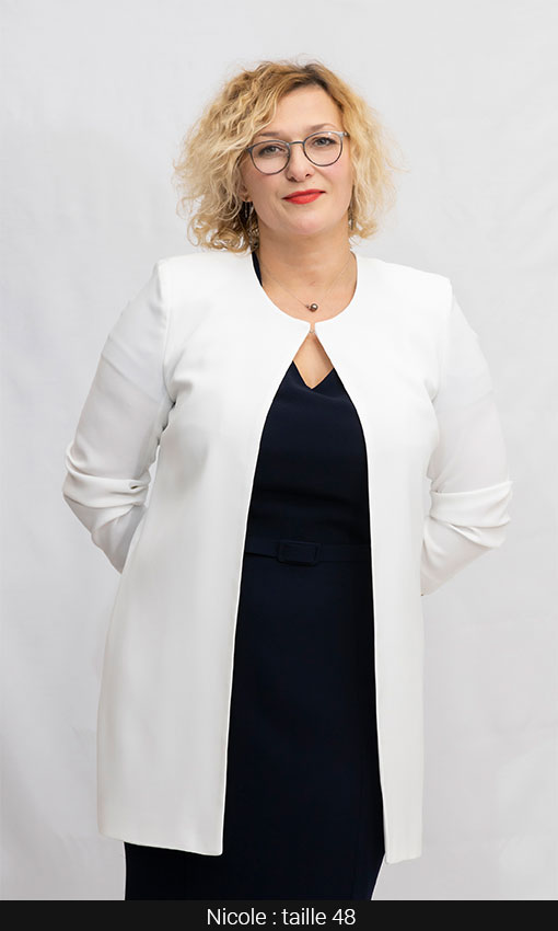veste longue grande taille femme blanc